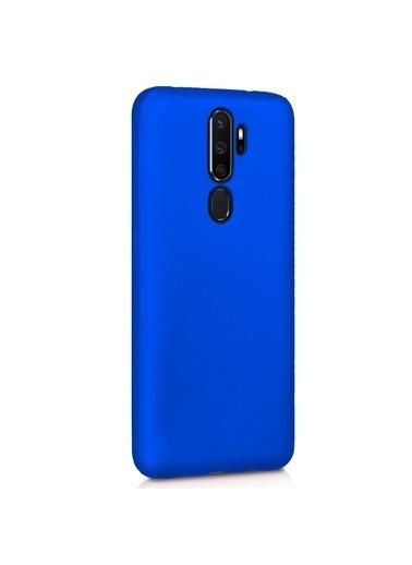Microsonic Matte Silicone Oppo A5 2020 Kılıf Mavi Mavi